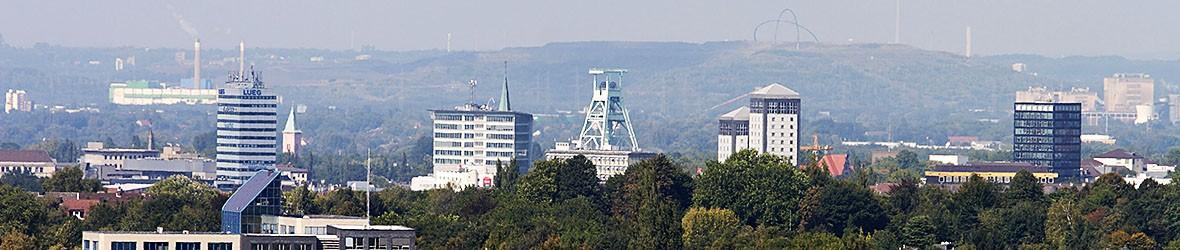 Fernsicht auf die Innenstadt von Bochum